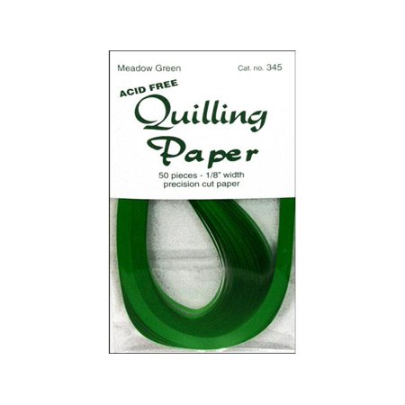 Lake City Quilling Paper Pkg 50Pc 1 8  Meadow Grn