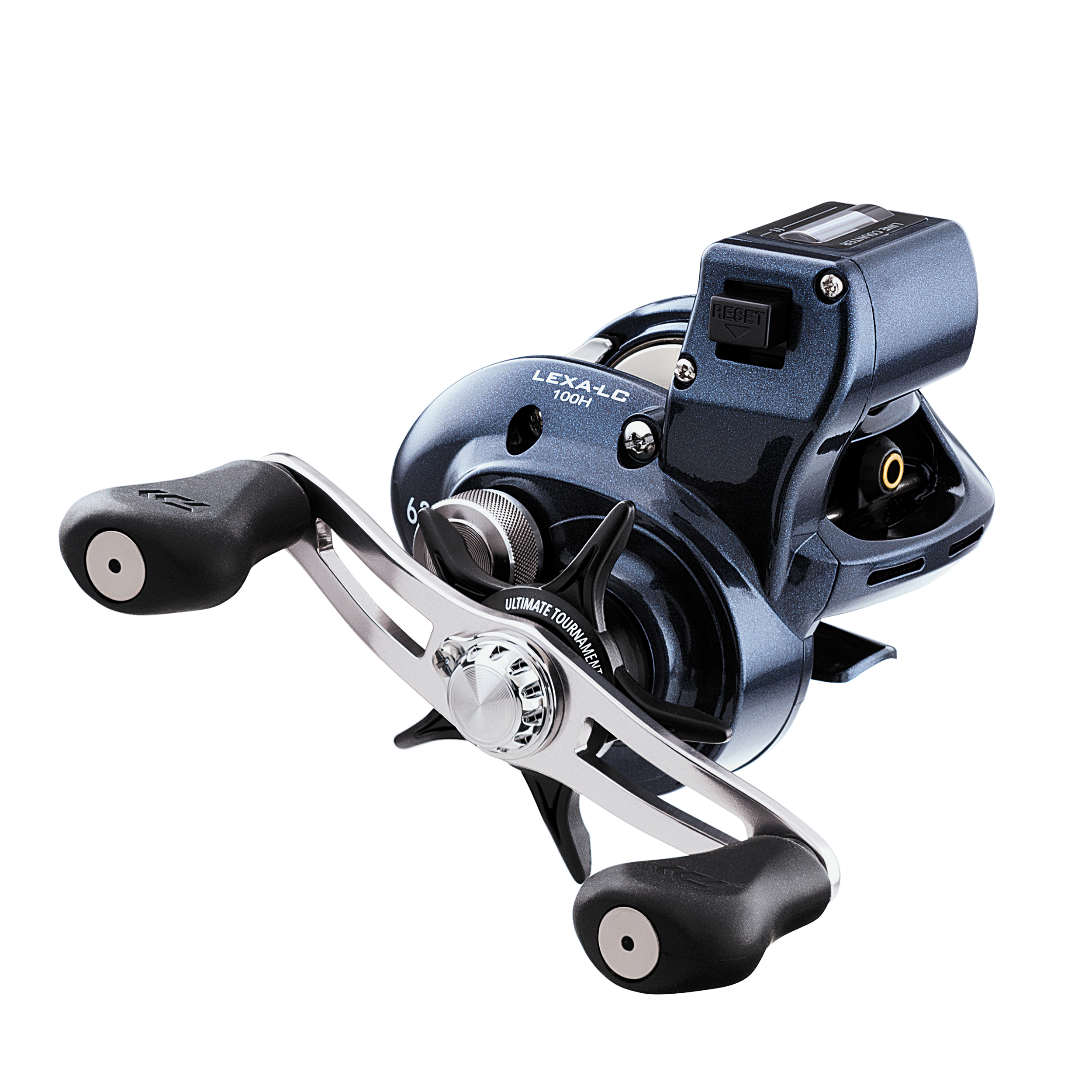 "Daiwa Lexa Line Counter Casting Reel 100, 6.3:1 Gear Ratio, 25.70"" Retrieve Rate, 11 lb Max Drag, Right Hand"