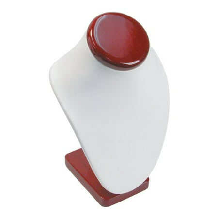 2 Tier White Leather T-Bar Bracelet Watch Jewelry Display Stand, This is a new white faux leather 2 tier t-bar display By FindingKing Leather Collar Display 2 Tier