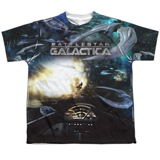 BSG New Battle Seat-S by S Youth Poly Crew Sublimation T-Shirt, White - Extra Large - image 1 de 1