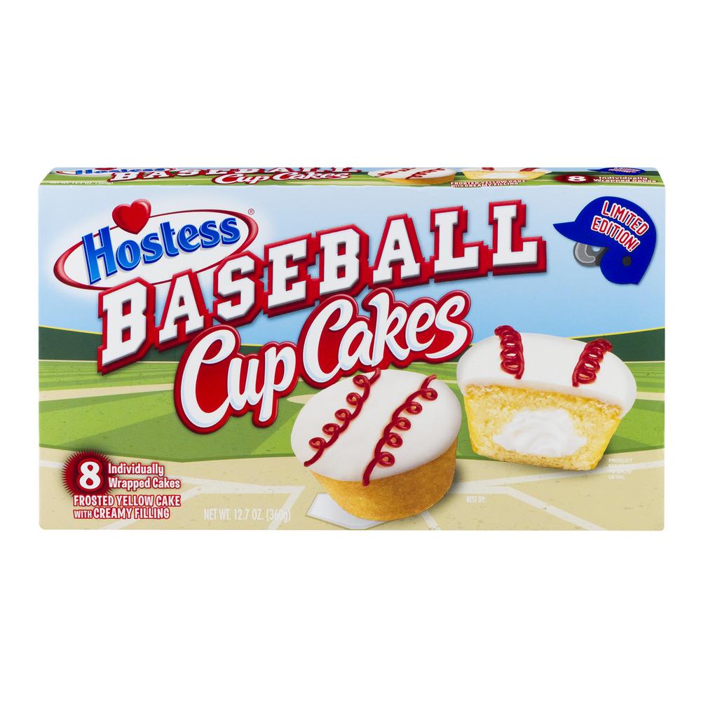 Hostess Baseball Cupcakes 8 Ct 127 Oz Walmart