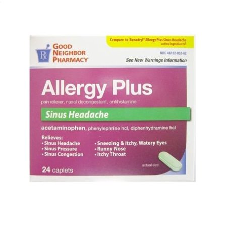 GNP Allergy Plus Sinus Headache Relief 24 Caplets