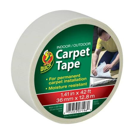 Duck Brand Indoor / Outdoor Carpet Tape, 42' (Best Carpet To Carpet Tape)