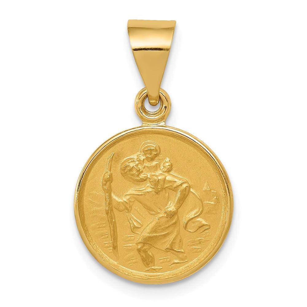 18k Yellow Gold Saint Christopher Medal Pendant