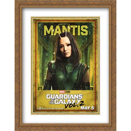Guardians of the Galaxy Vol. 2 28x36 Double Matted Large Large Gold Ornate Framed Movie Poster Art (Guardians Of The Galaxy 2 Gold People)