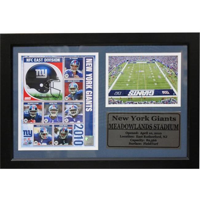 Encore Select 181-FBNYG2010 2010 New York Giants Team Photo & Stadium on 12X18 Deluxe Frame