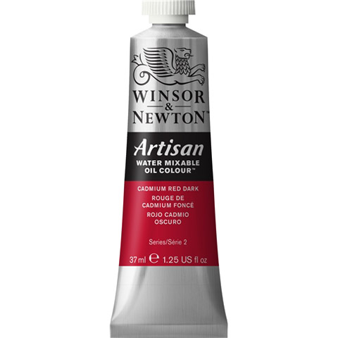 Winsor & Newton Artisan Water Mixable Oil Color: Cadmium Red Dark, 1.25 fl oz