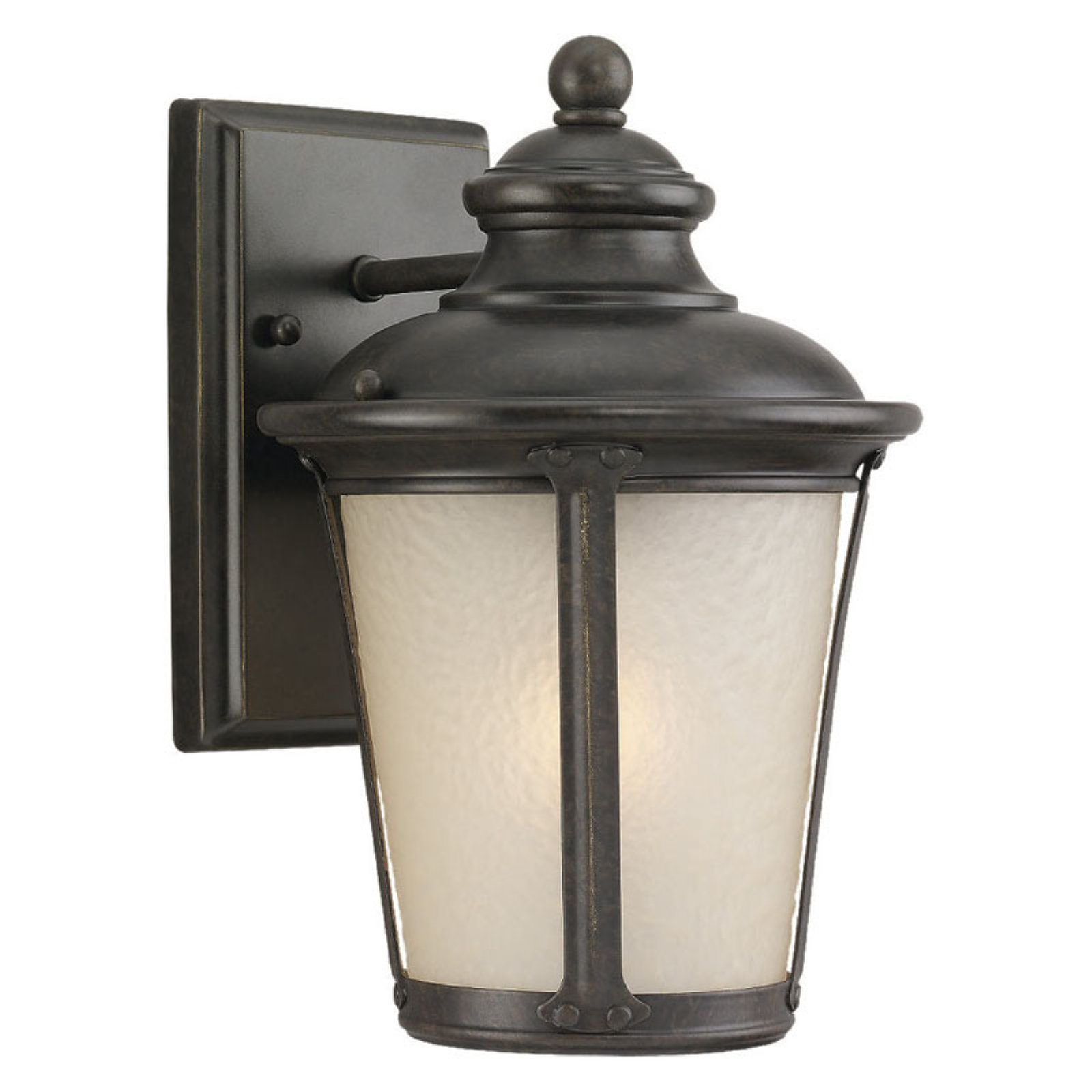 Sea Gull Cape May Outdoor Wall Lantern - 10.5H in. Burled Iron