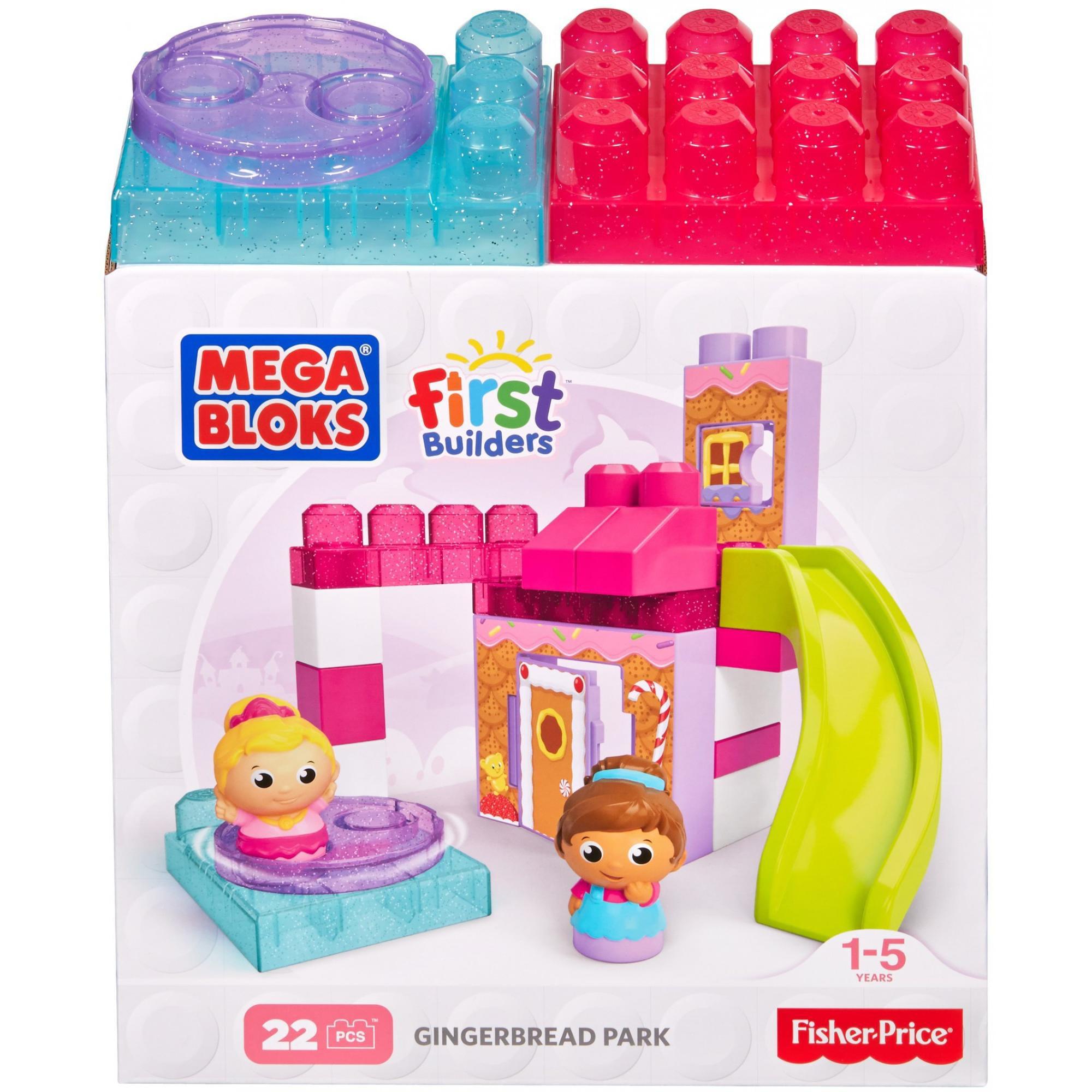 Mega Bloks First Builders Gingerbread Park by Mattel