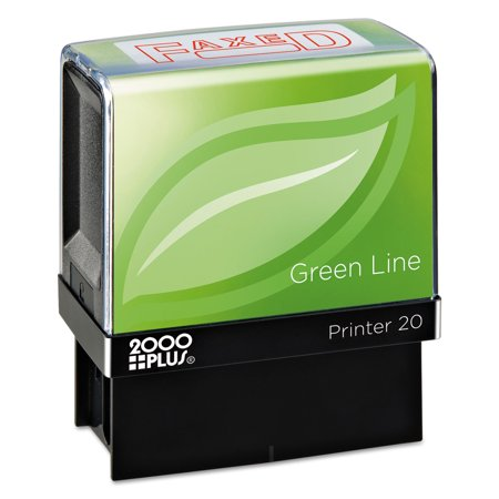 Green Line Message Stamp, Faxed, 1 1/2 x 9/16, Red Line Stamp Sets