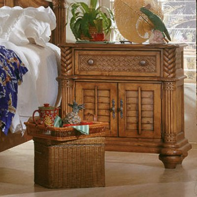 Genial Progressive Furniture Palm Court 1 Drawer Nightstand   Island Pine
