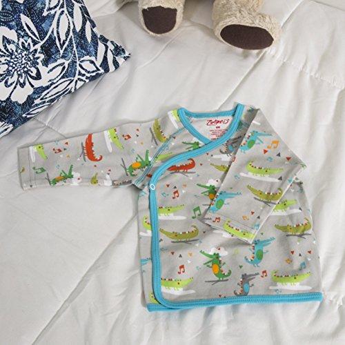 Zutano Kimono Top – Alligator Bebop Design – For 6 Month Olds