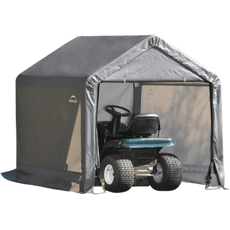 ShelterLogic Outdoor Storage Shed-in-a-Box, Peak Top, Grey, 6 x 6 x 6 ft