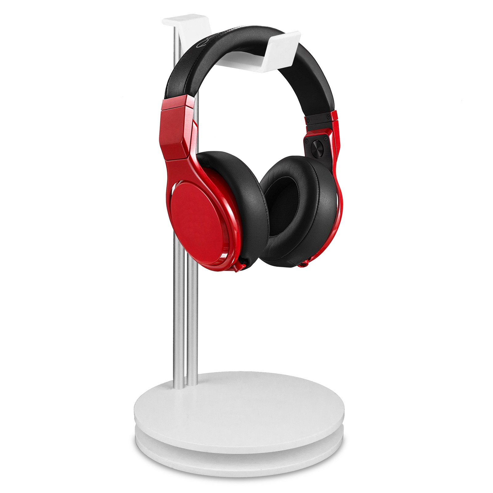 TSV Universal Aluminum Headphone Stand Headset Holder Earphone Stand Bar Mount with Cable Organizer by TSV