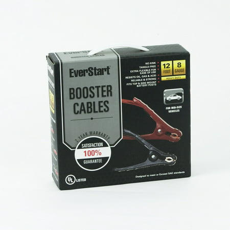 Everstart 12 ft. 8-Gauge Booster Cables