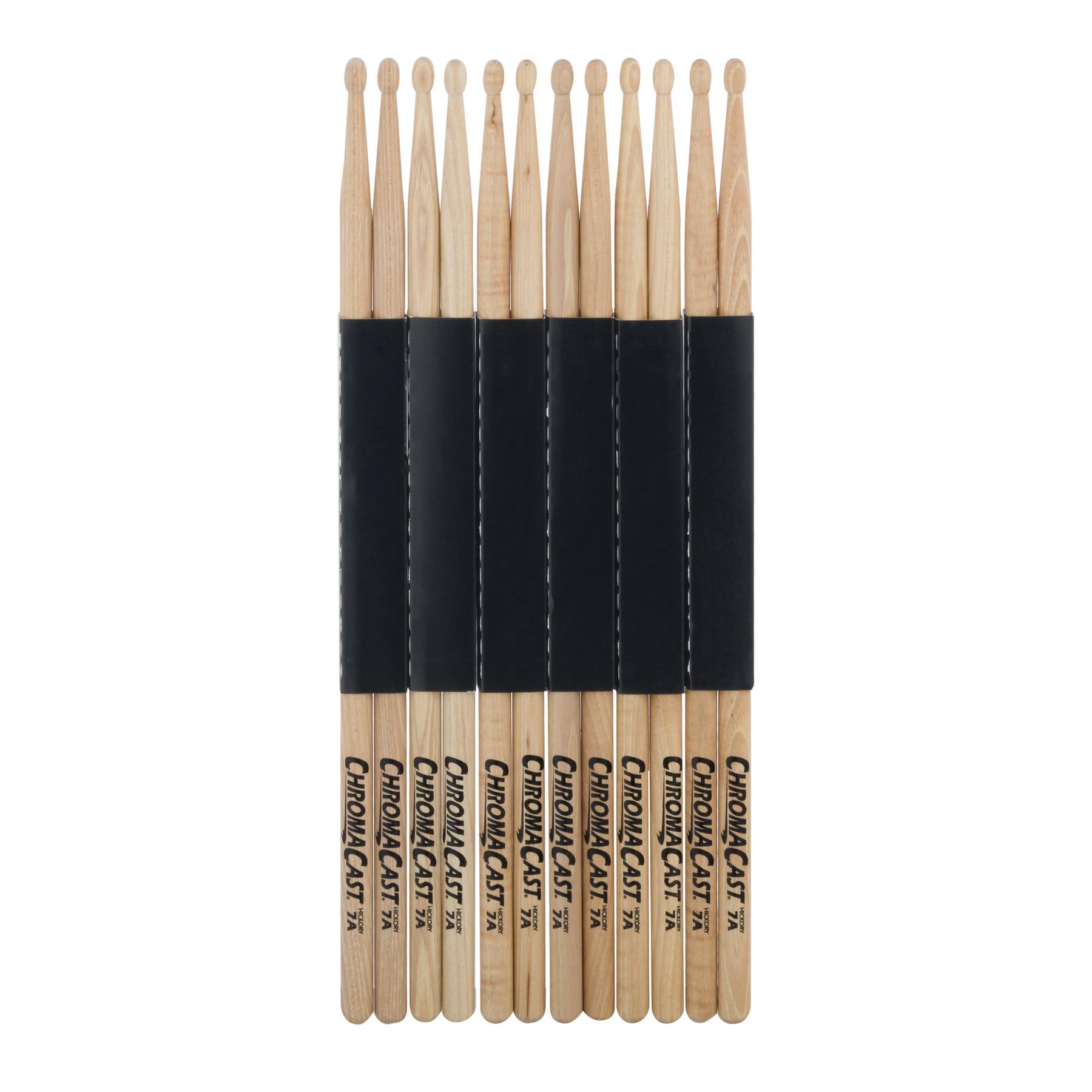 Chroma Cast Hickory 7a Drumsticks, 6.0 PR
