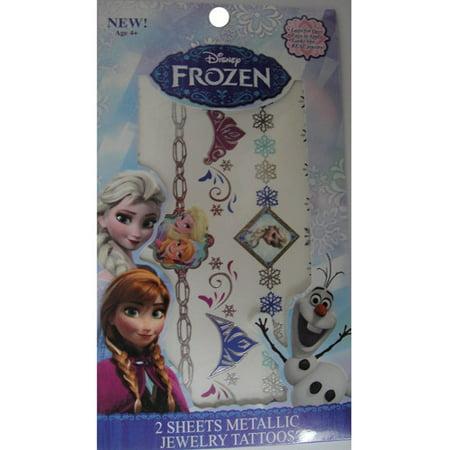 Frozen Tattoo (As Seen On TV Frozen Shimmer Metallic Jewelry Temporary)