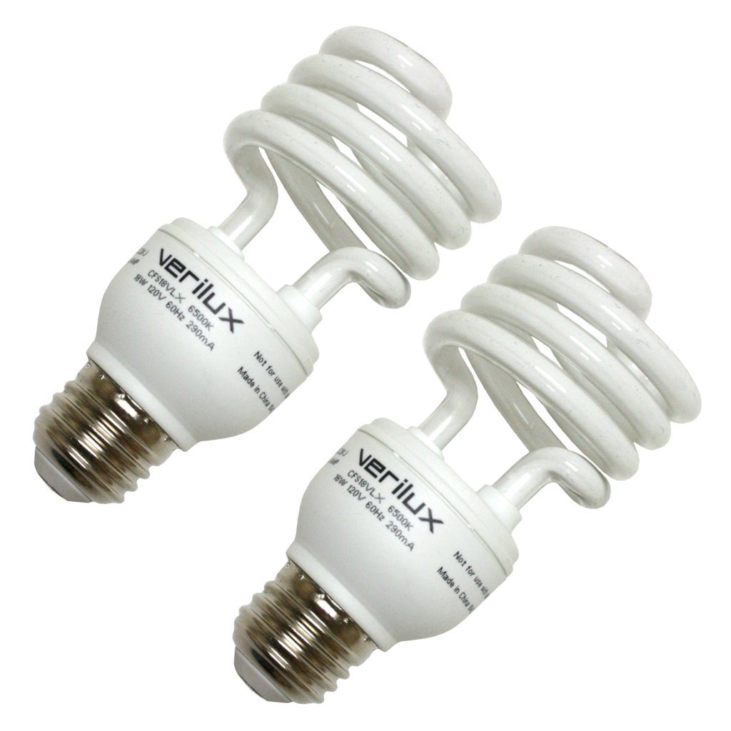 Verilux 05112 CFS18VLX Compact Fluorescent Daylight Full Spectrum Light Bulb by Verilux Inc