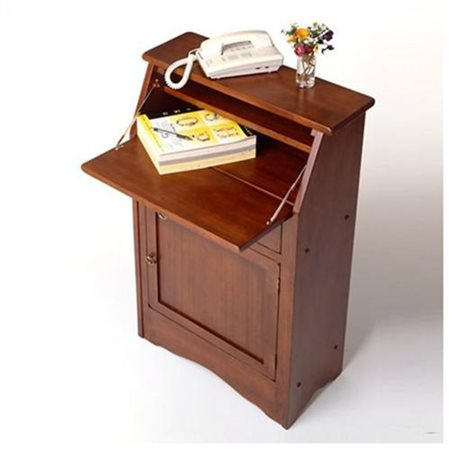 Bookcase Secretary Desk - Winsome Wood Regalia Secretary Desk, Walnut Finish