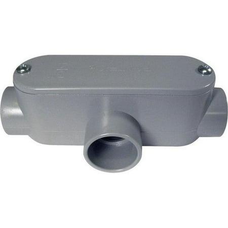 CANTEX 5133565 Conduit Outlet Body,PVC,T