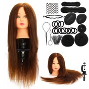 24 100 Real Human Hair Salon Hairdressing Mannequin Practice Training Head Braid Set