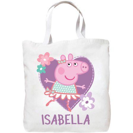 Personalized Tote Bag - Peppa Pig Ballet Personalized Petite Tote Bag