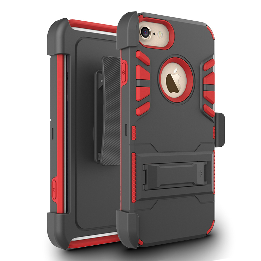 Zizo Strong Case Cover w/ Holster, Kickstand and Card Slot for iPhone 7 / 7 Plus