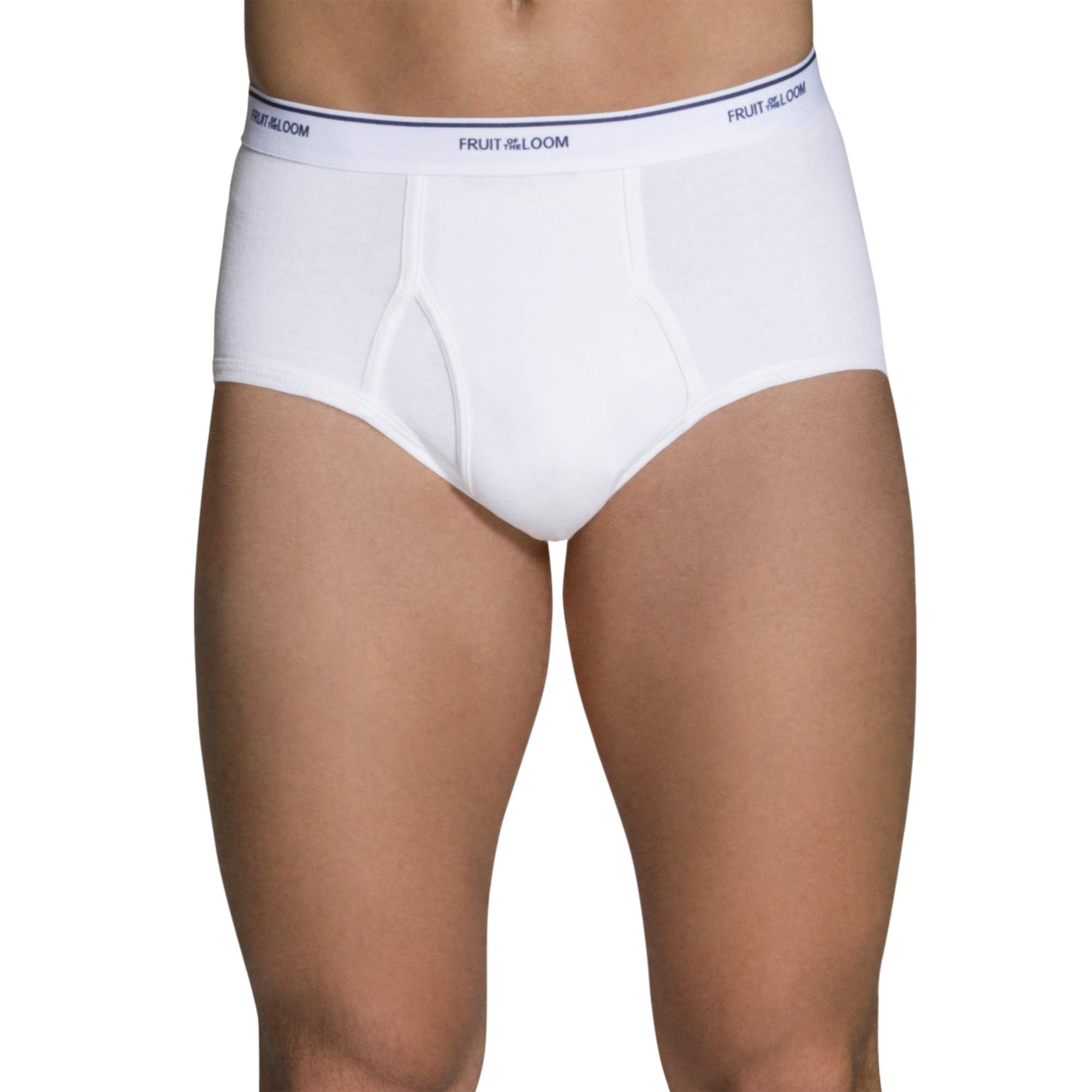 Fruit of the Loom Men's Tag Free Classic White Briefs, 7 Pack