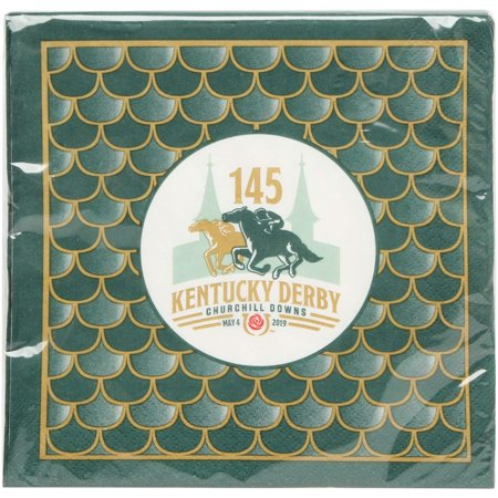 Napkin Sizes (Kentucky Derby 145 24-Pack Luncheon Napkins - No Size)