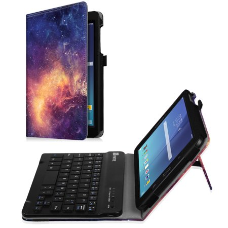 For Samsung Galaxy Tab E 8.0 Tablet Keyboard Case - Slim Fit Stand Cover with Removable Bluetooth Keyboard,