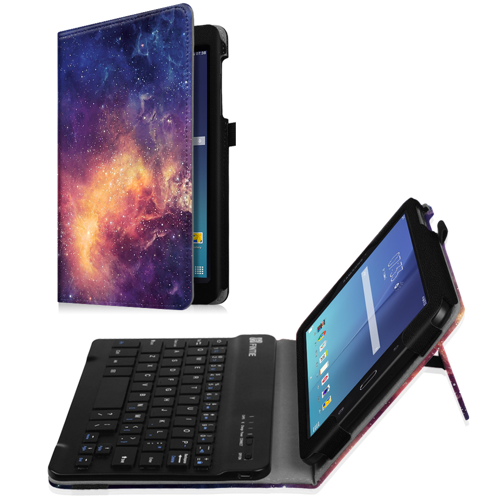 For Samsung Galaxy Tab E 8.0 Tablet Keyboard Case - Slim Fit Stand Cover with Removable Bluetooth Keyboard, Galaxy