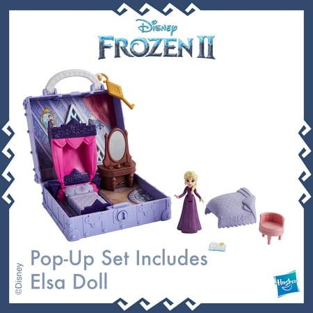 Disney Frozen 2 Portable Pop-up Elsa's Bedroom Playset, Includes Elsa Doll