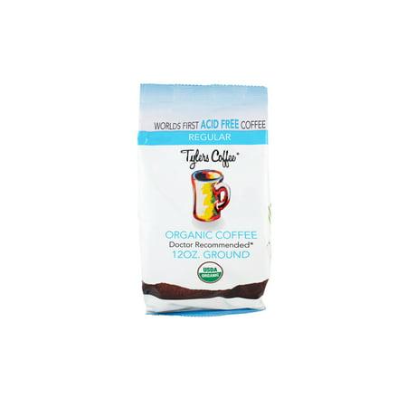 Tylers Acid Free Ground Coffee, Original, 12oz. (Organic Low Acid Coffee)