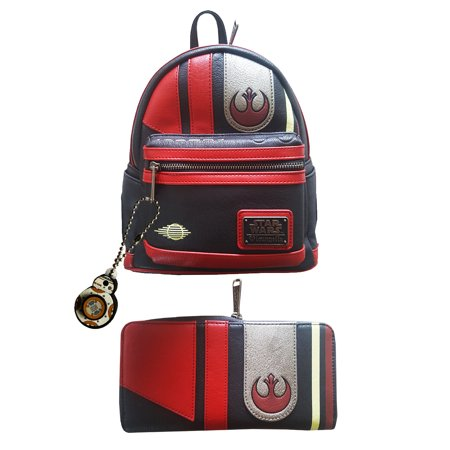 d8a3409e298 Loungefly - Star Wars The Last Jedi Poe Cosplay Mini Backpack Wallet ...