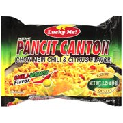 (3 Pack) Lucky Me Chili & Citrus Flavor Pancit Canton Chow Mein, 2.29 oz