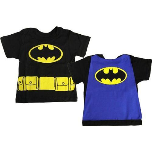 DC Comics Batman Logo Black Cape Toddler Tee 5T