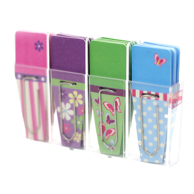 SPRING CLIP FLAGS PINK PURPLE GREEN BLUE 24PK