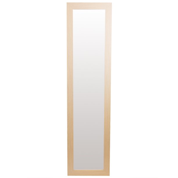 Full Length Floor Mirror With Easel Back, Natural
