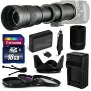 420mm-1600mm Super Telephoto Lens Bundle for Canon EOS Rebel T3 T5 1100D 1200D