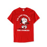 Peanuts Mens I'm Just Here for The Cookies Graphic T-Shirt