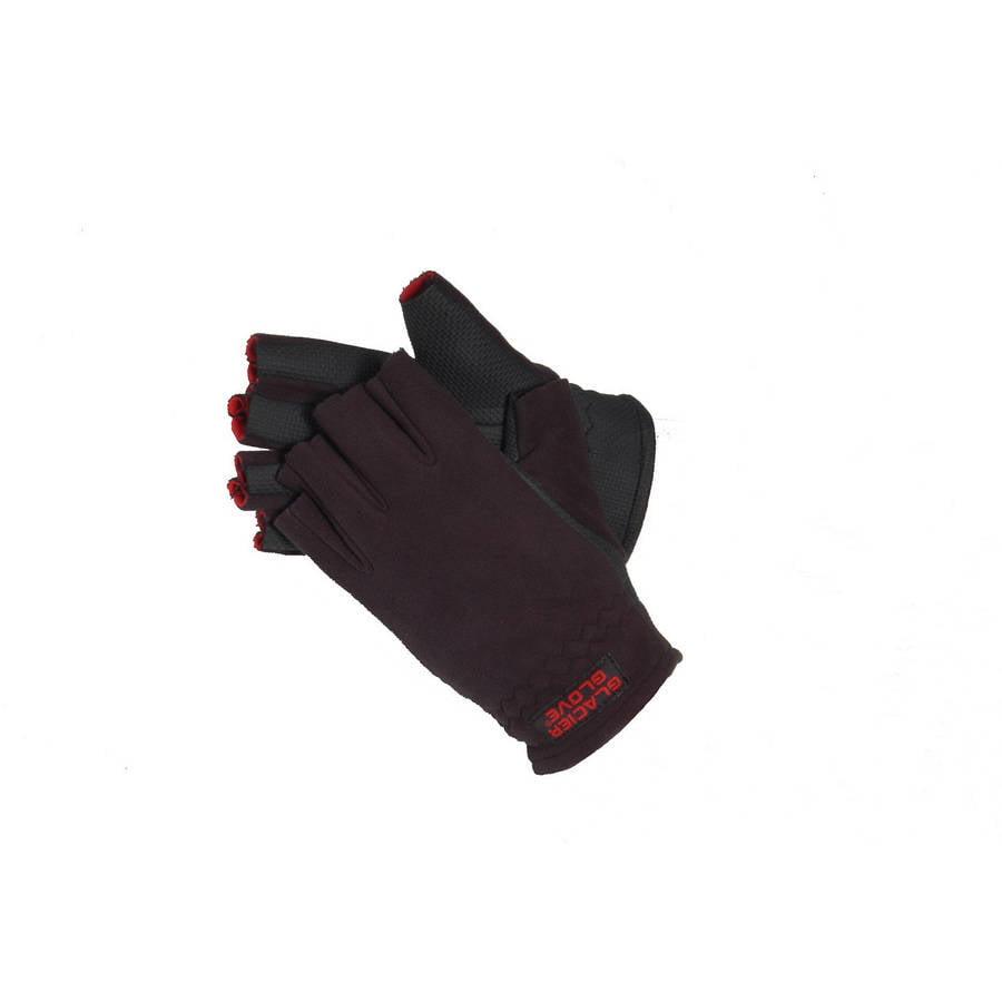 Glacier Gloves Alaska River X-Large Fingerless Glove, Black by Glacier Glove