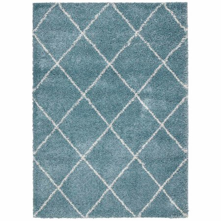 Nourison 8 2 X 10 Brisbane Aqua Shag Rectangle Area Rug
