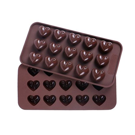 15 Grid Heart Shape 3D Silicone Cake Fruit Chocolate Mould Candy Cookie Baking Fondant Molds Cake Decoration Tools