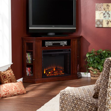 Southern Enterprises Silverado Convertible Media Electric Fireplace for TVs up to 46