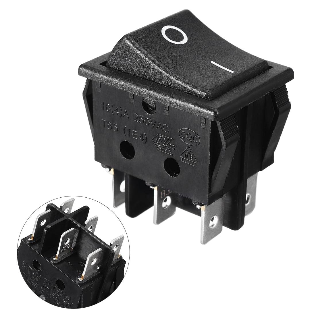 16A/250V 20A/125V AC Double Pole Single Throw DPDT O/O Rocker Switch ...