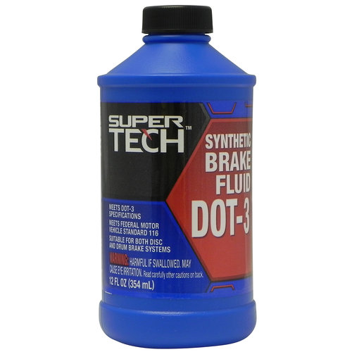Super Tech DOT 3 Brake Fluid, 12 oz