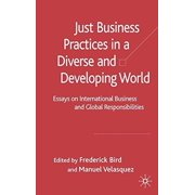 Just Business Practices in a Diverse and Developing World : Essays on International Business and Global Responsibilities