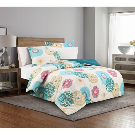 Border Bedding - Mainstays No Borders Bed in a Bag Complete Bedding Set