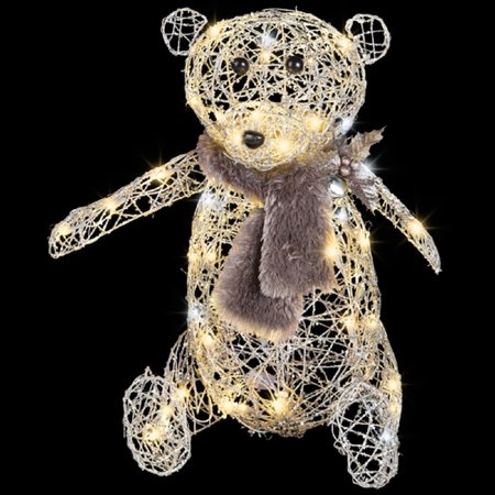 LightShow Frozen Fire Silver Vines Teddy Bear, 2
