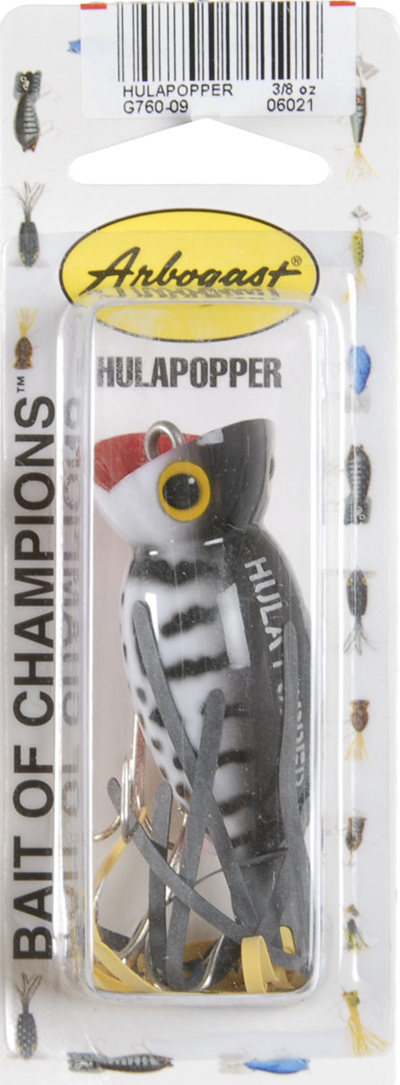 Arbogast G760 Hula Popper 3 8 oz Coach Dog Orange Belly Fishing Lure by Arbogast Lure Company